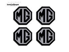 MG ZR Alloy Wheel Centre Caps Badges Black & Silver 45mm Hub Cap Badge 4 Pack