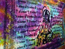 Lord Shiva Siva Hindu Tie Dye Indian Yoga TAPESTRY Hippie Wall Hanging Bedspread