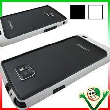 Pellicola+Bumper BIANCO NERO per Samsung Galaxy S2 i9100 S2 Plus i9105 custodia