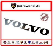 "Volvo Cromo Efecto Trasero ""Volvo"" insignia Nuevo Original Genuino"