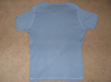 Burton Mens Large Blue Black Casual V Neck Short Sleeve T-Shirt