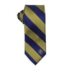Sigma Alpha Epsilon SAE Striped Crest Design Tie - Brand New Product!