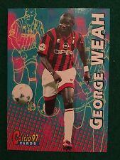 CALCIO 97 1997 CARDS n.89 MILAN GEORGE WEAH , Figurina Card Panini NEW