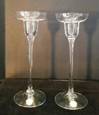 Kosta Boda Pair of Crystal Candlestick Holders 7.5""