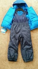NWT Columbia boys Reversible 2 pc. snowsuit set Sz: 18-24 Mth RP: $130