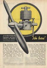 Bauplan funktionsfähiger 3,5 ccm Dieselmotor für Flugmodelle - Original von 1955