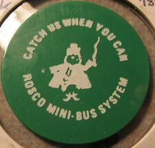 1982 Roscoe Mini-Bus Prudenville, MI Green 50c Transit Bus Token - Michigan