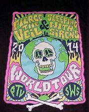 Rock Me Pierce The Veil & Sleeping Woth Sirens 2014 Tour Black Men's T-shirt L