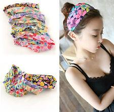Women Chiffon Turban Twist Head Wrap Headband Twisted Knotted flower Hair Band