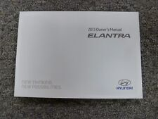 2013 Hyundai Elantra Sedan Coupe Owner Manual User Guide Book GLS Limited GS SE