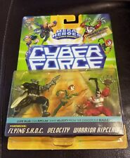 New 1995 Cyber Force Mega Heroes Velocity Warrior Ripclaw Figures Limited Editio