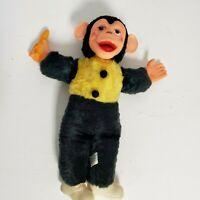 """Vintage Superior Toy Novelty Zippy Mr Bim 15"""" Monkey Banana Stuffed Animal Plush"""