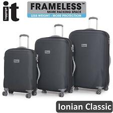IT Luggage Frameless Ionian 3 Trolley Suitcase Set Travel Cabin Bag Lightweight