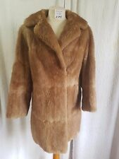 Beautiful Light Brown Maxwell Croft Size 10, Mink Fur Jacket Coat
