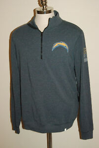 San Diego Chargers 47 Forty Seven Brand Forward 1/4 Zip Premium Men's Large NWTs