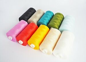 Linen natural thread 500m spool 100% linen colours