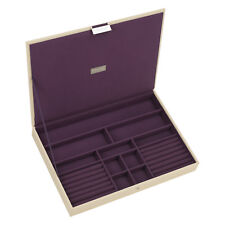 Stackers Purple Lining Classic Ring Bracelet  Jewellery Box with lid