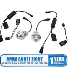2x LED Ojos de Ángel Bombilla 20W anillo de halo Luces Light Para BMW 5-Series