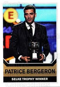 2015-16 Panini Stickers #498 Patrice Bergeron, Selke Trophy