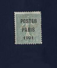 TIMBRES PREOBLITERES N°28 Poste Paris 1921 NEUF * Sans gomme avec charnière