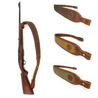 Leather Rifle Sling, Canvas Shotgun Strap, Padding Gun Shoulder Straps Hunting