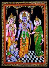 Lord RAM Sita Hindu Poster Tapestry Ethnic Indian Cotton Wall Hanging Throw