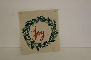 Christmas Joy Canvas Banner New- Hanging wall decor- simple gift- holiday decor