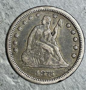 1876-CC Seated Liberty Silver Quarter (2525)