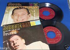 2 RARE Johnnie Ray COLUMBIA EP 2566 2595 Original Juke Box 45 w Picture Sleeves