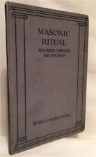 1923 MASONIC RITUAL DESCRIBED J. WALTER HOBBS SECRET SOCIETY OCCULT ILLUMINATI
