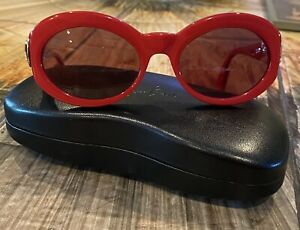 VINTAGE PALOMA PICASSO RED Sunglasses BY METZLER MOD 8804 Change RX Frames