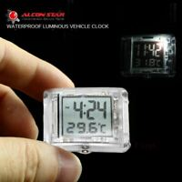 Motorcycle Luminous Clock Car Motorbike Thermometer Watch Bicycle Temp with F1Y8