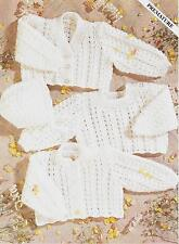 "Vintage Knitting Pattern Baby Hat Sweater Cardigan 12-18"" premature - 6 month DK"