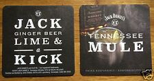 Jack Daniel's Coasters / Beer Mats x 2