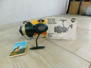 Vintage South Bend 25A Spinning Reel w/Near Mint Box & Instruction Book + More