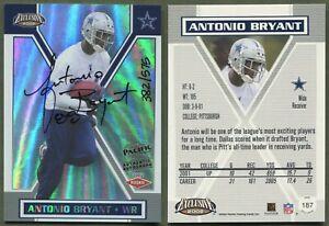 2002 Pacific Exclusive - #187 Antonio Bryant (RC) Dallas Cowboys (382/575) AUTO