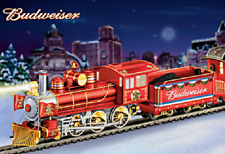 Budweiser Holiday Express Bachmann Locomotive and Tender 14-00432-001