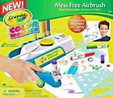 CRAYOLA COLOR WONDER MARKERS MESS FREE MOTORIZED AIRBRUSH KIDS ART XMAS GIFT