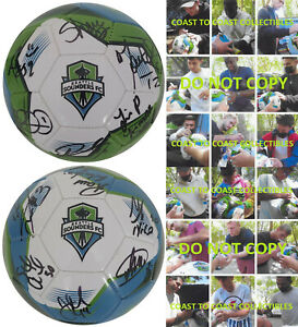 2021 Seattle Sounders FC team signed autographed logo soccer ball COA proof