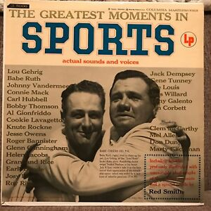"""BABE RUTH & LOU GEHRIG   """"GREATEST MOMENTS IN SPORT""""  ACTUAL SOUNDS & VOICES  NM"""
