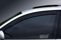 SUBARU STI WINDOW ETCHED GLASS VINYL DECALS-STICKERS X2 – 7YR VINYL – CAR MOD