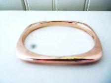 Clad Slip On Bangle Bracelet Great Vintage Italian Modernist Rose Gold