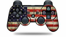 Skin for PS3 Controller Painted Faded Cracked USA American Flag