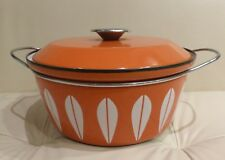 Cathrineholm Norway Orange Lotus Covered Pot Casserole