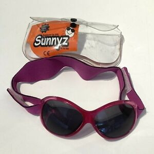 Pink Sunnyz Sunglasses 100% UV with Adjustable Head Band for Baby Age 0-2