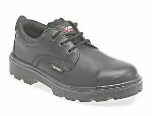 Black Leather 3 Eyelet Safety Shoe Size 12 Toesaver 1410