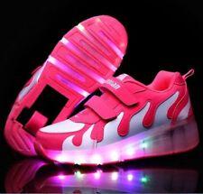 Kids Roller Shoes Boys Girls Wheels Heelys Skates LED Trainers Christmas Gift