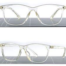 Leichte Herren Damen Transparente Kunststoff Brille Große Eckig Brillengestell
