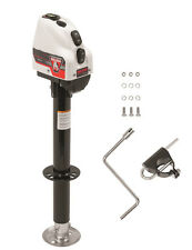 "Bulldog A-Frame Powered Electric Trailer Jack 4,000 lbs 14"" Lift Drop Leg White"