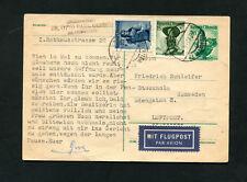 Österreich 1954, Luftpost nach Schweden auf Karte    (#2360)